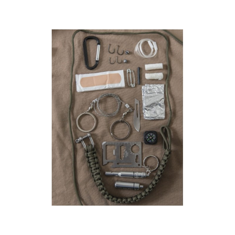 PARACORD SURVIVAL KIT LARGE ZELEN